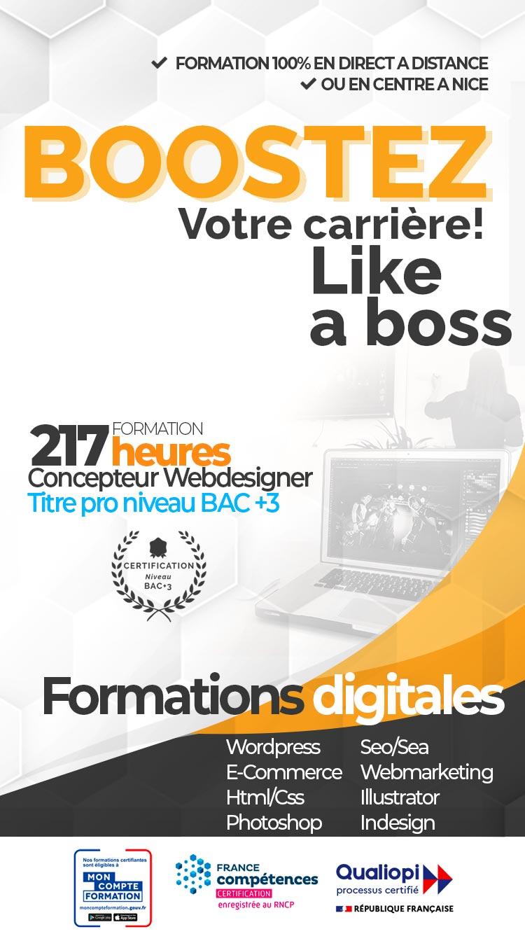 Centre de formation spécialisé dans la communication Web & Print